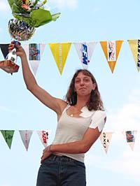 Alice GENESTE vainqueur de l'édition 2002 malgré une épaule  douloureuse